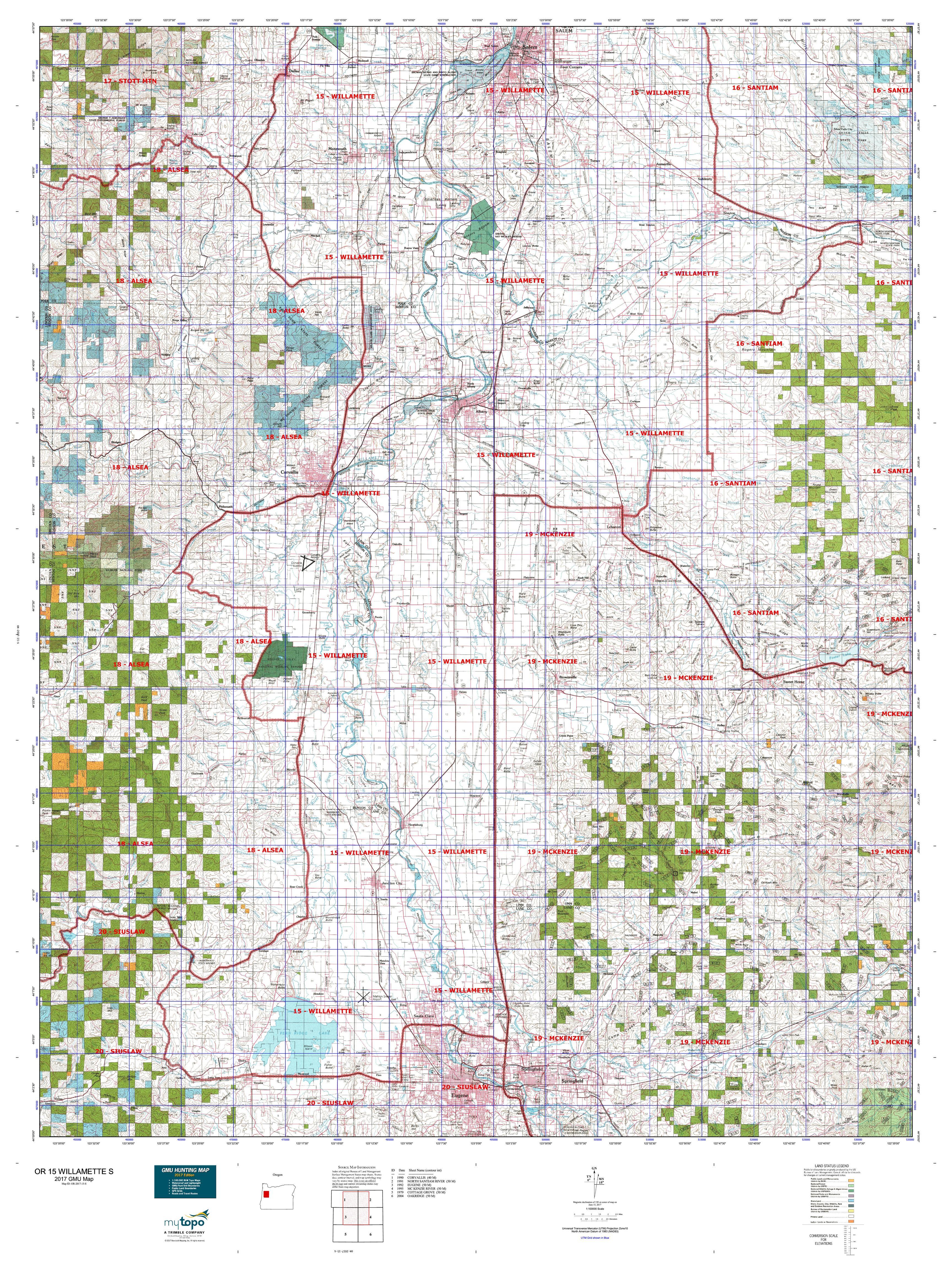 OR 15 WILLAMETTE S Map MyTopo