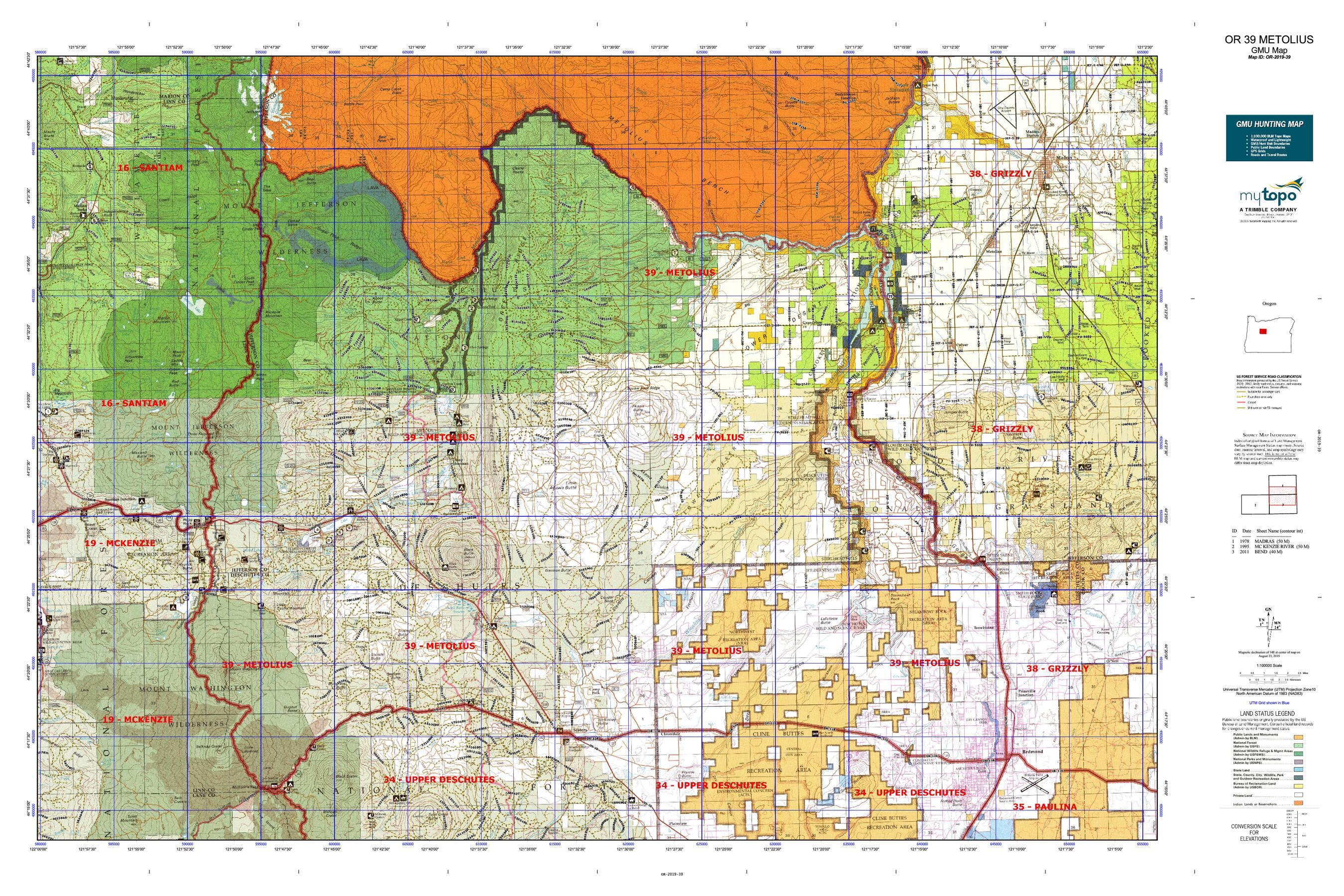 OR 39 METOLIUS Map   MyTopo Make A Map Of Places I Ve Been on