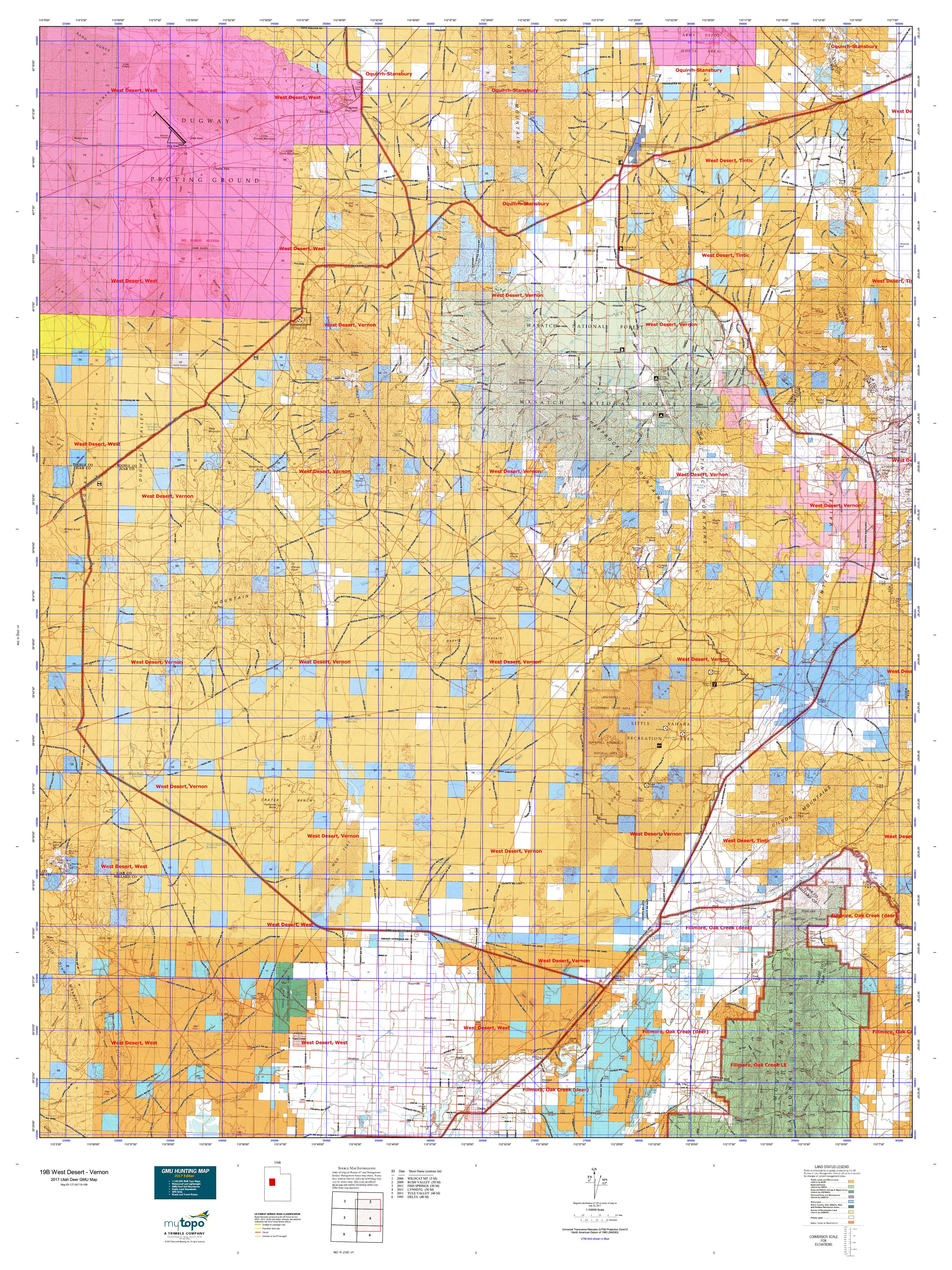 19B West Desert Vernon Map MyTopo