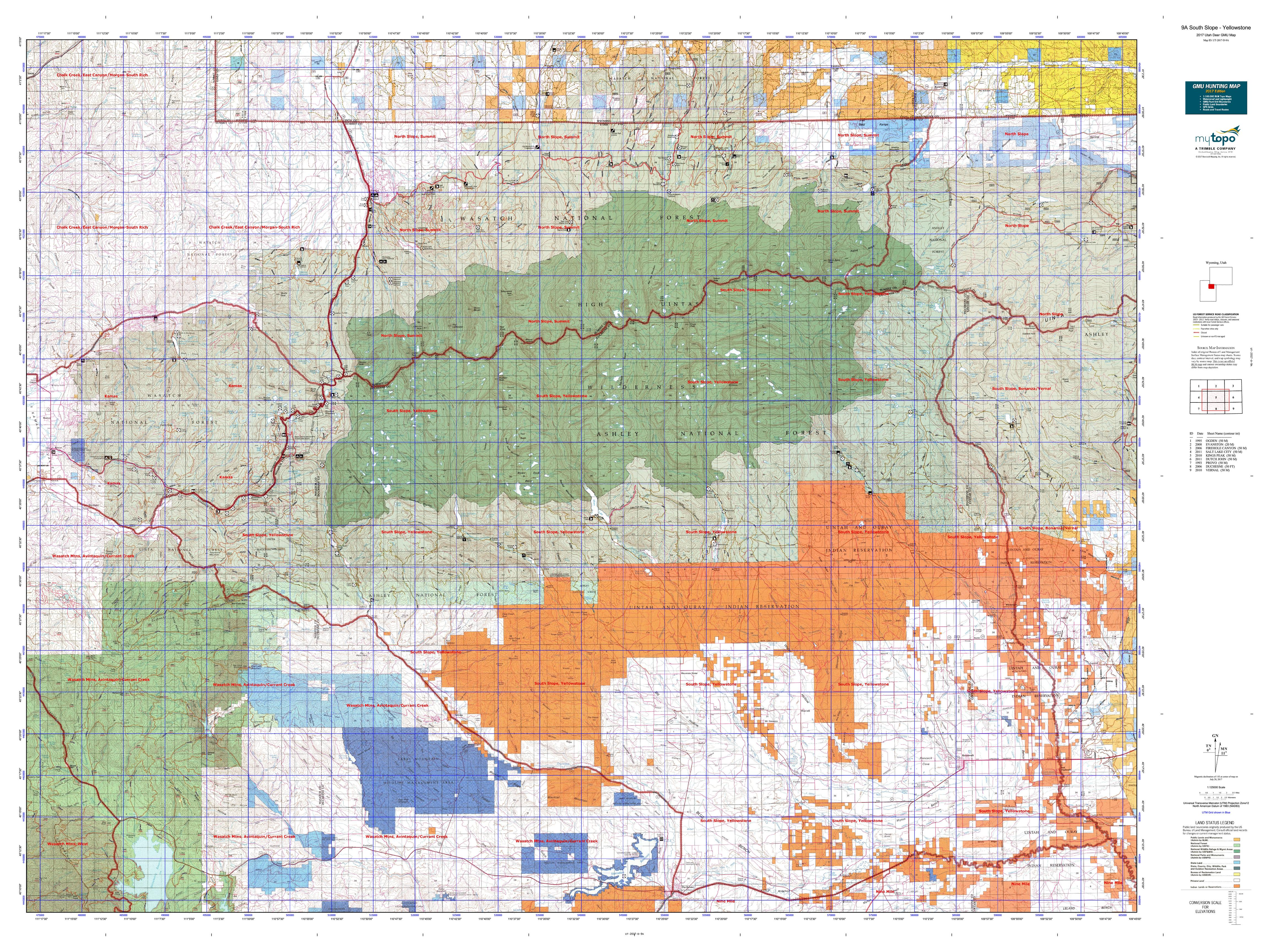 A South Slope Yellowstone Map MyTopo - Yellowstone map