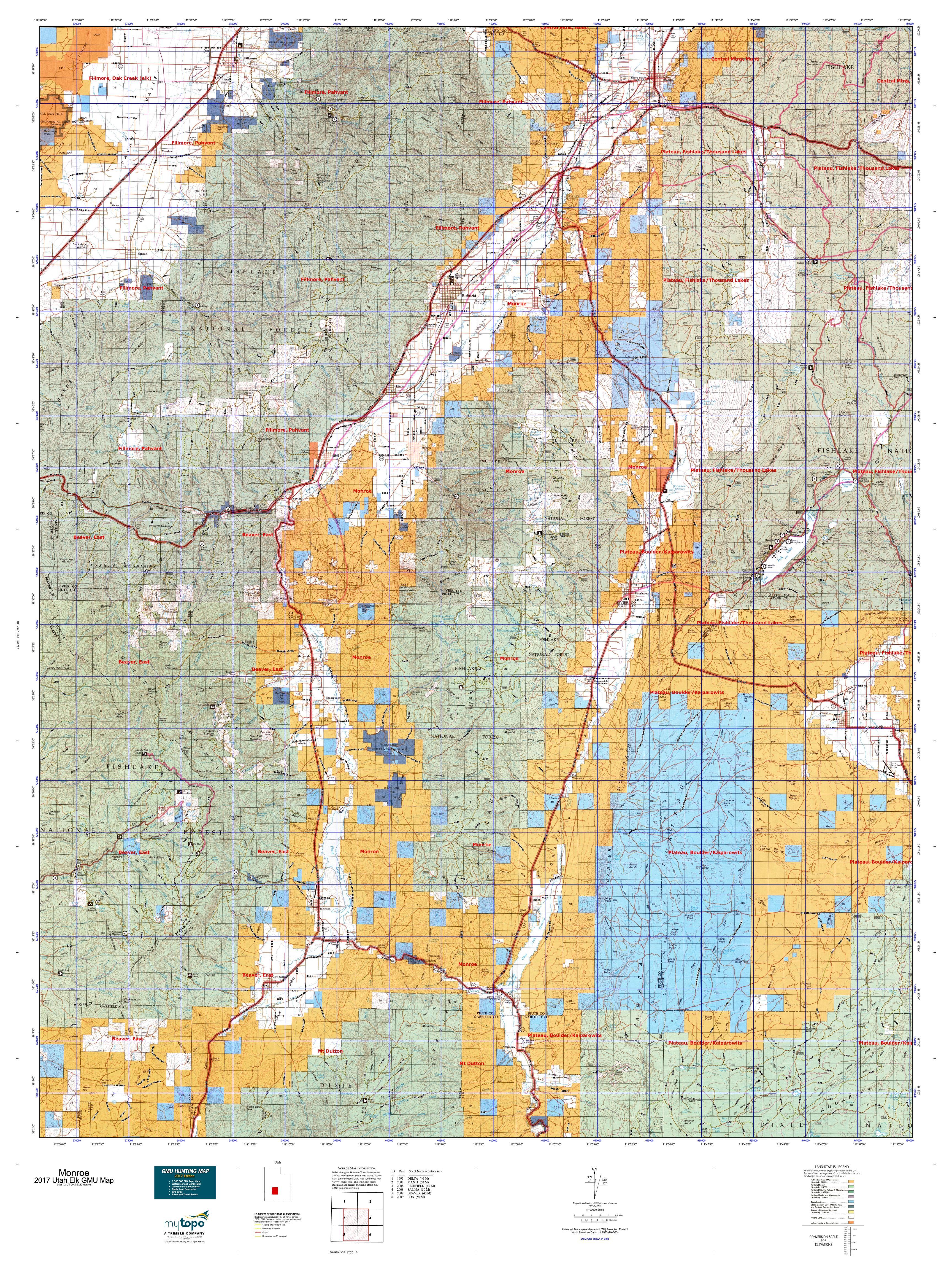 Monroe Map MyTopo