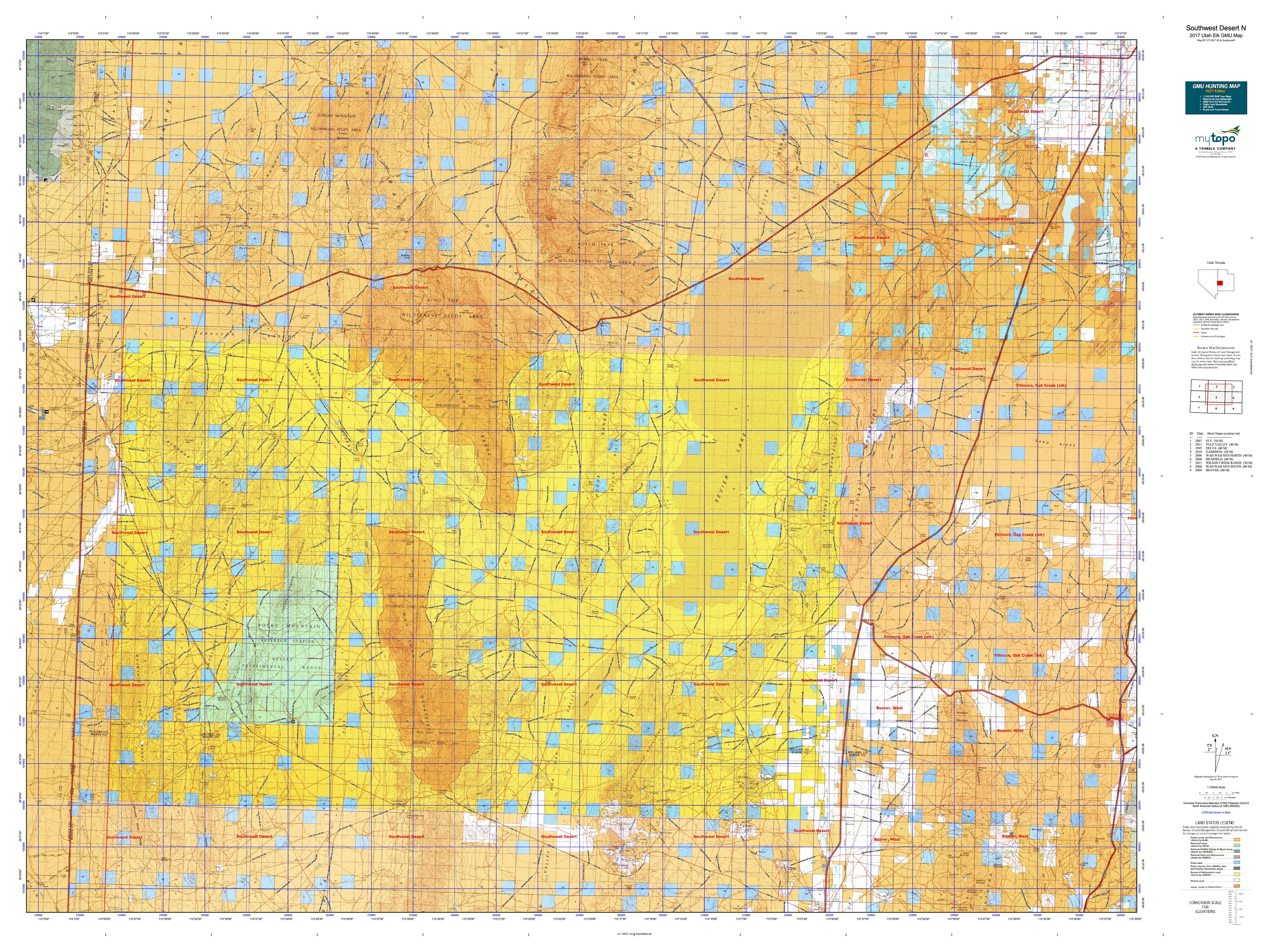 Southwest Desert S Map MyTopo - Map of south west us