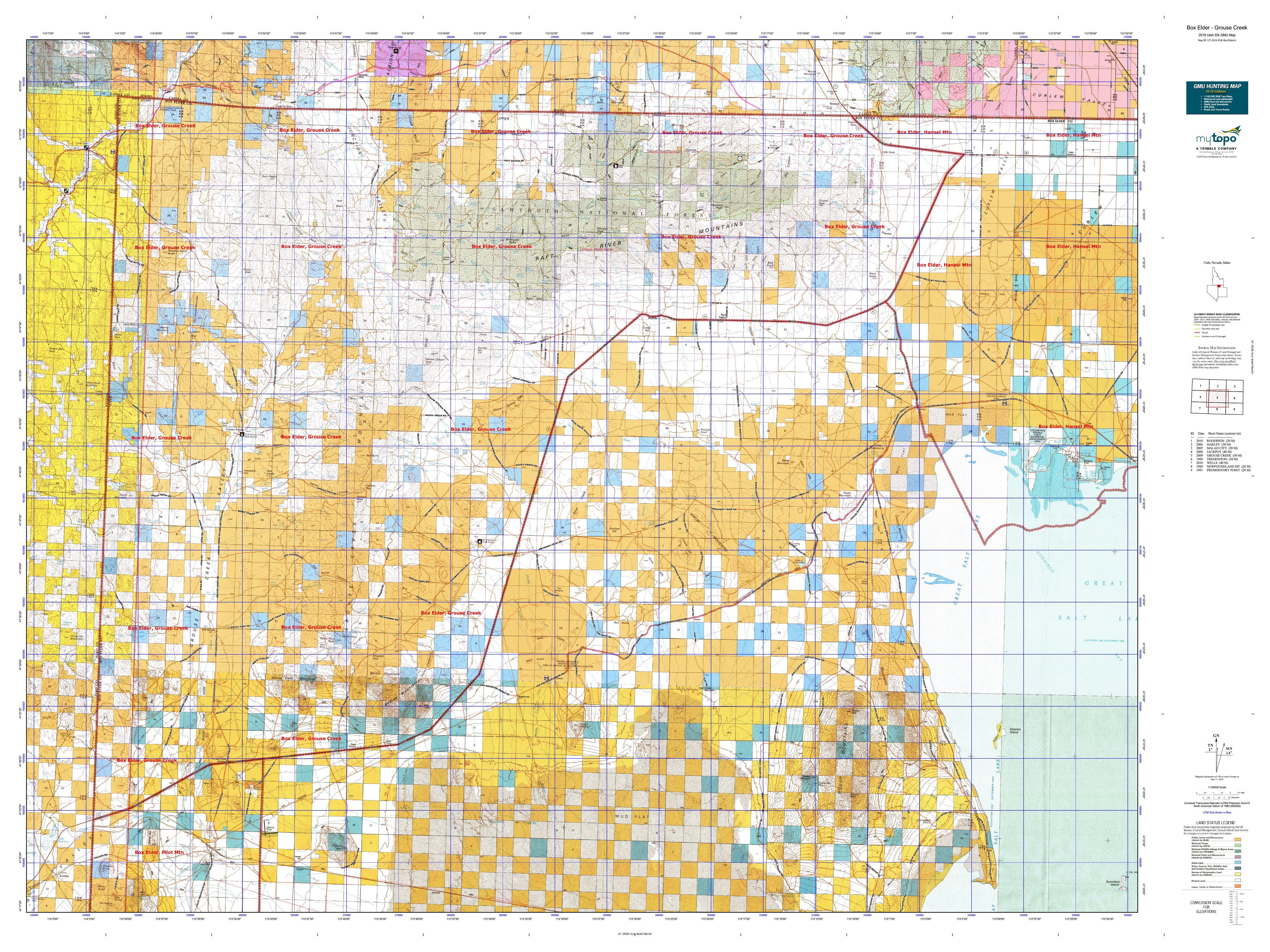 Grouse Creek Utah Map.Box Elder Grouse Creek Map Mytopo