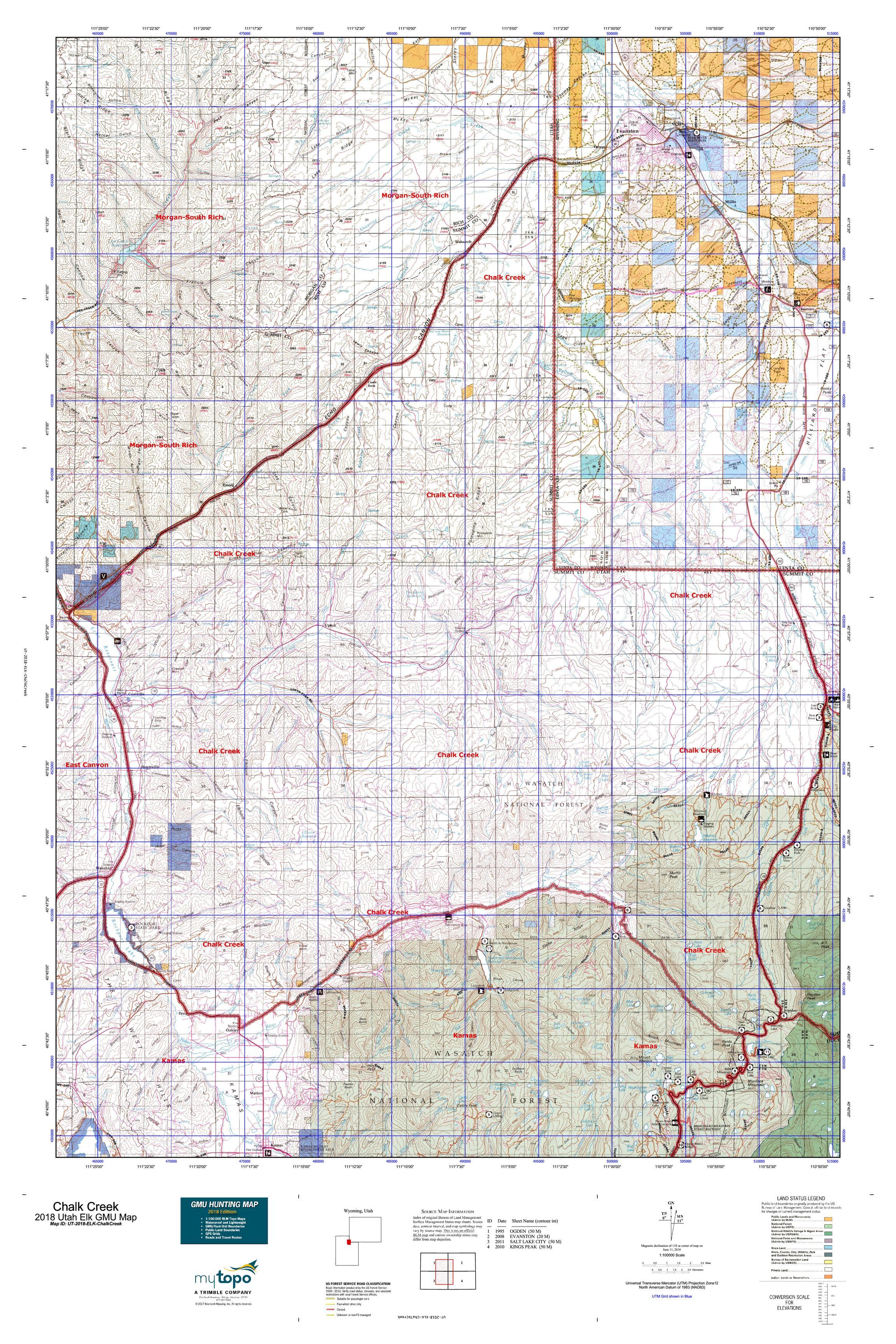 Chalk Creek Map | MyTopo