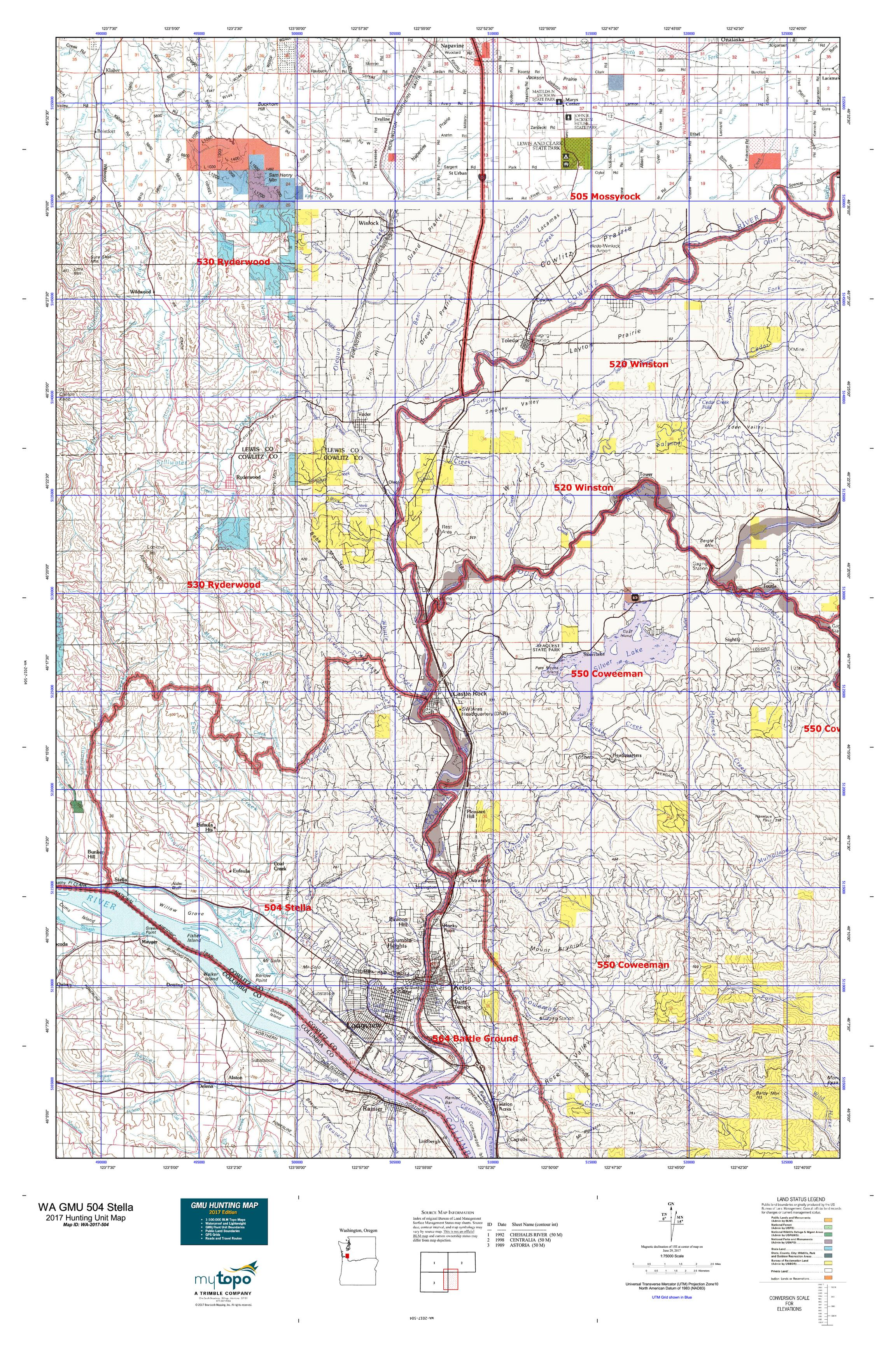 Oregon Hunting Unit Maps Images - Diagram Writing Sample IDeas And Guide