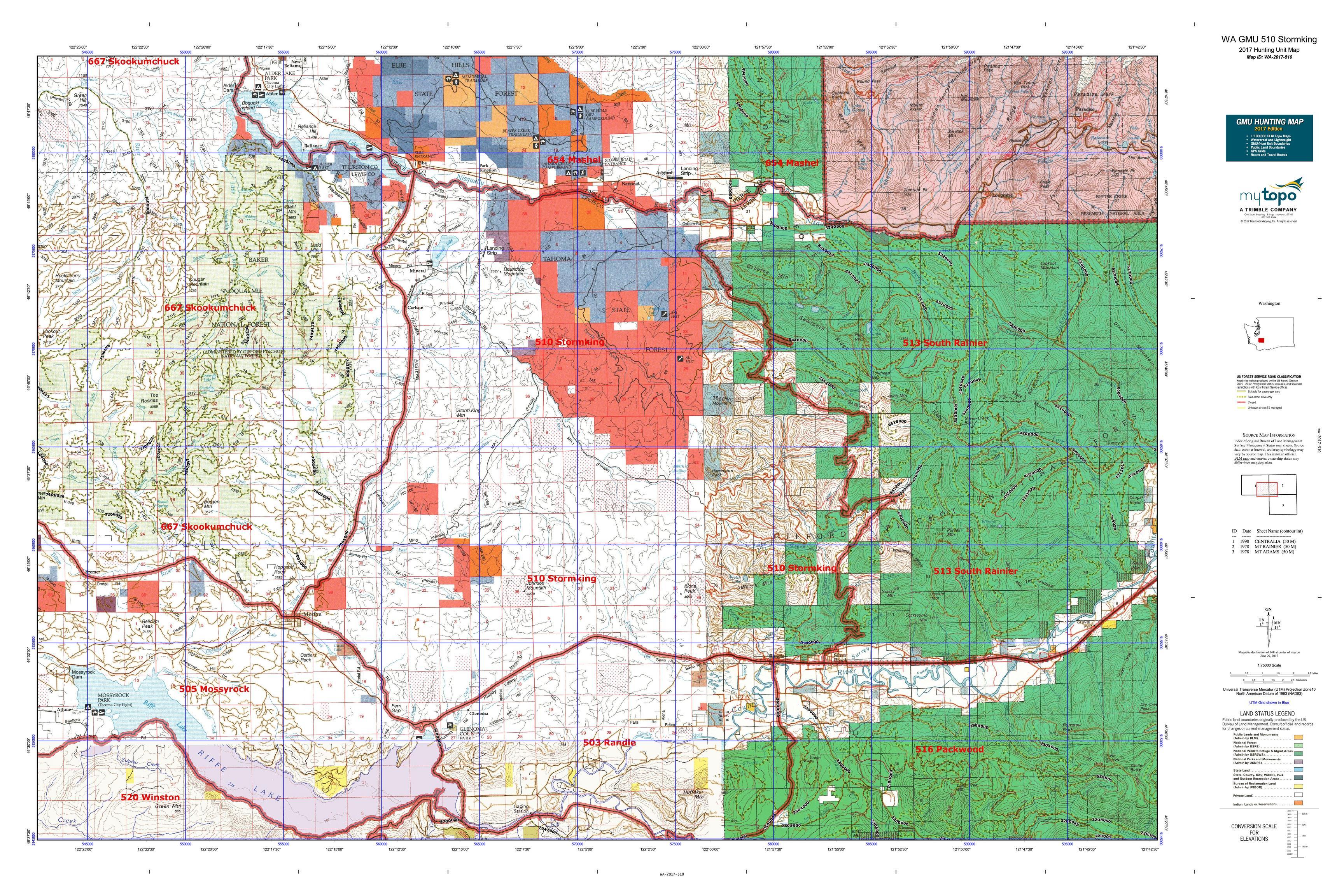 WA GMU 510 Stormking Map