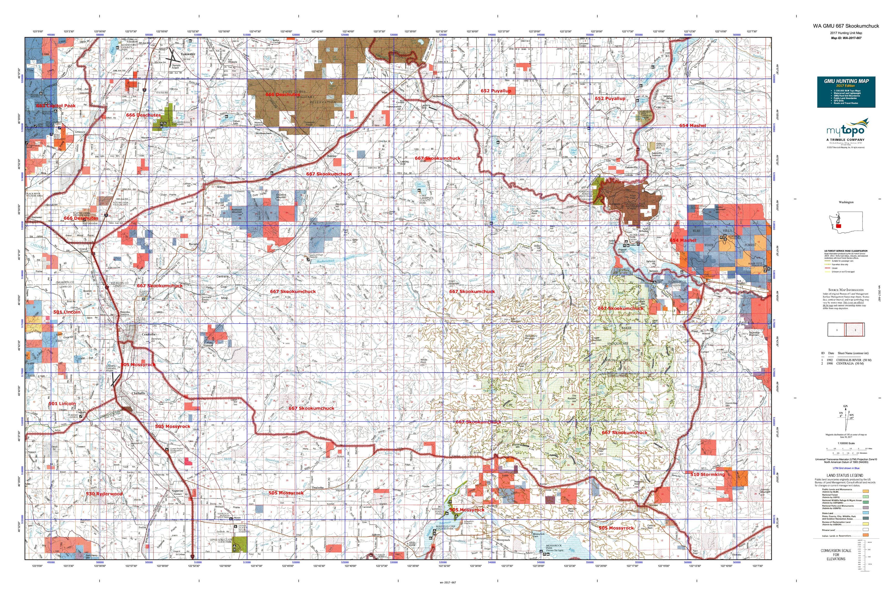 WA GMU 667 Skookumchuck Map