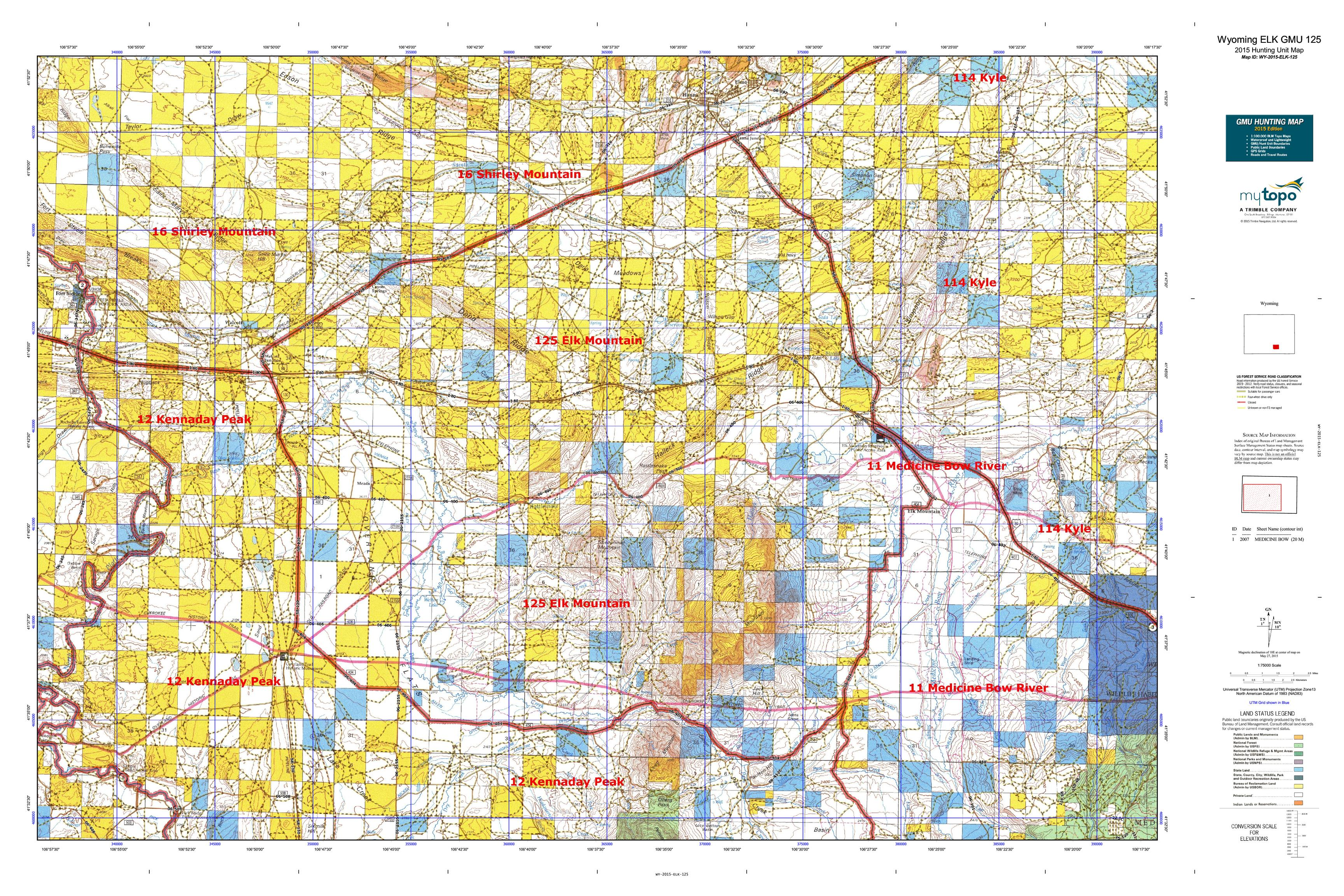 Wyoming game and fish department hunting autos post for Wyoming game and fish maps