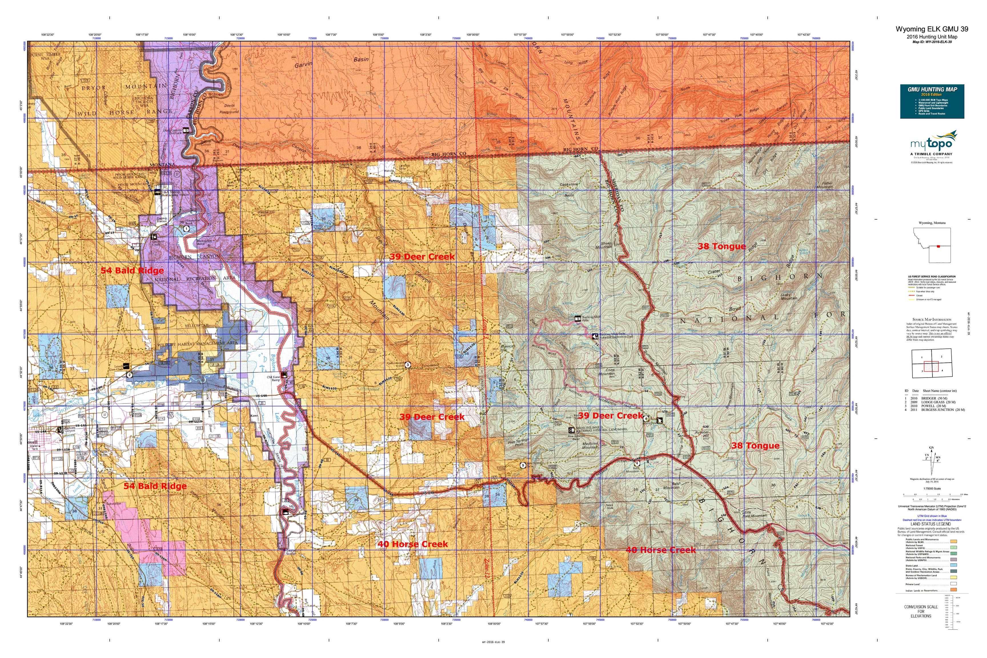 39 Best Images About South Pacific On Pinterest: Wyoming ELK GMU 39 Map