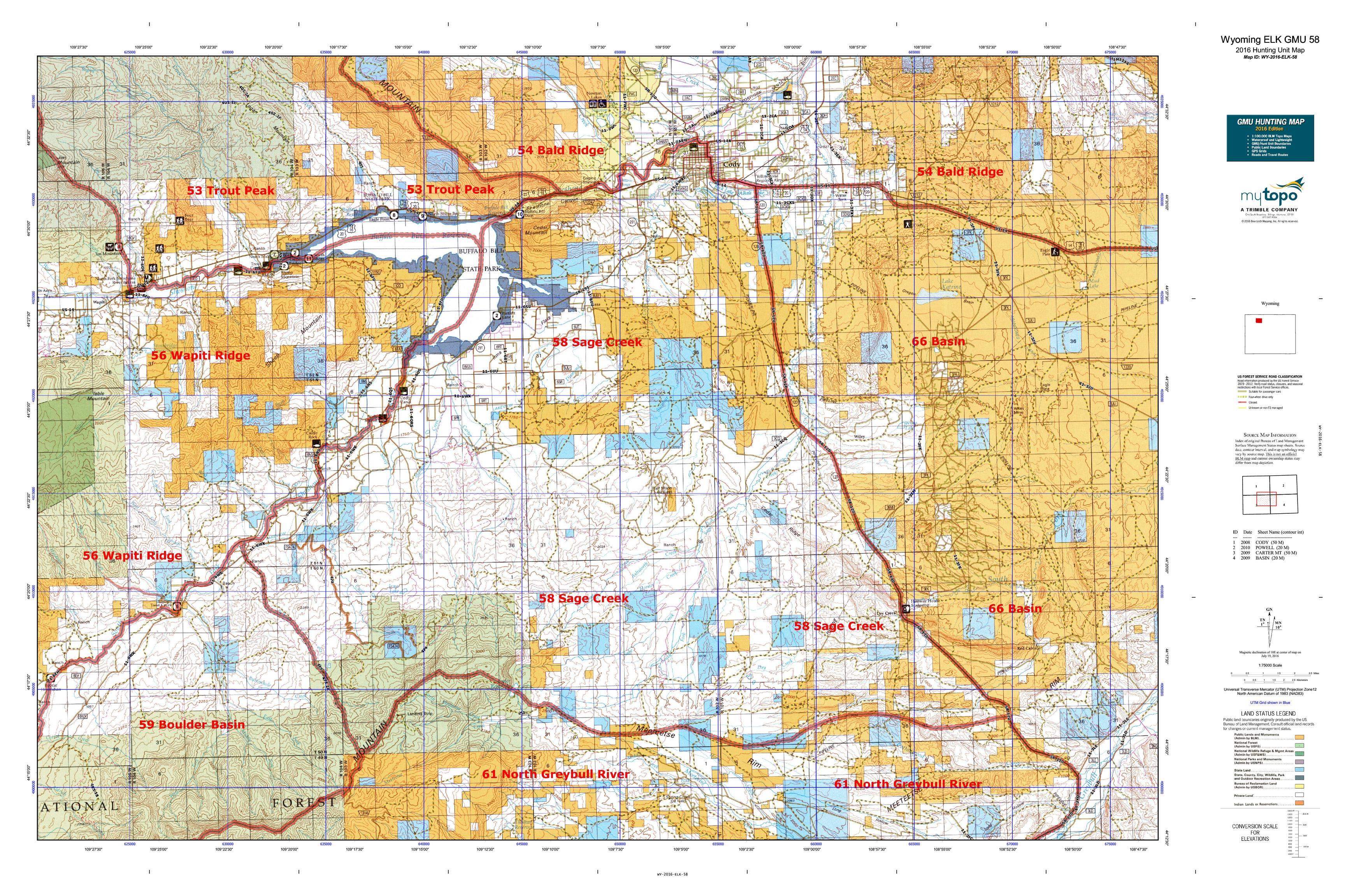 Wyoming Elk Unit Map