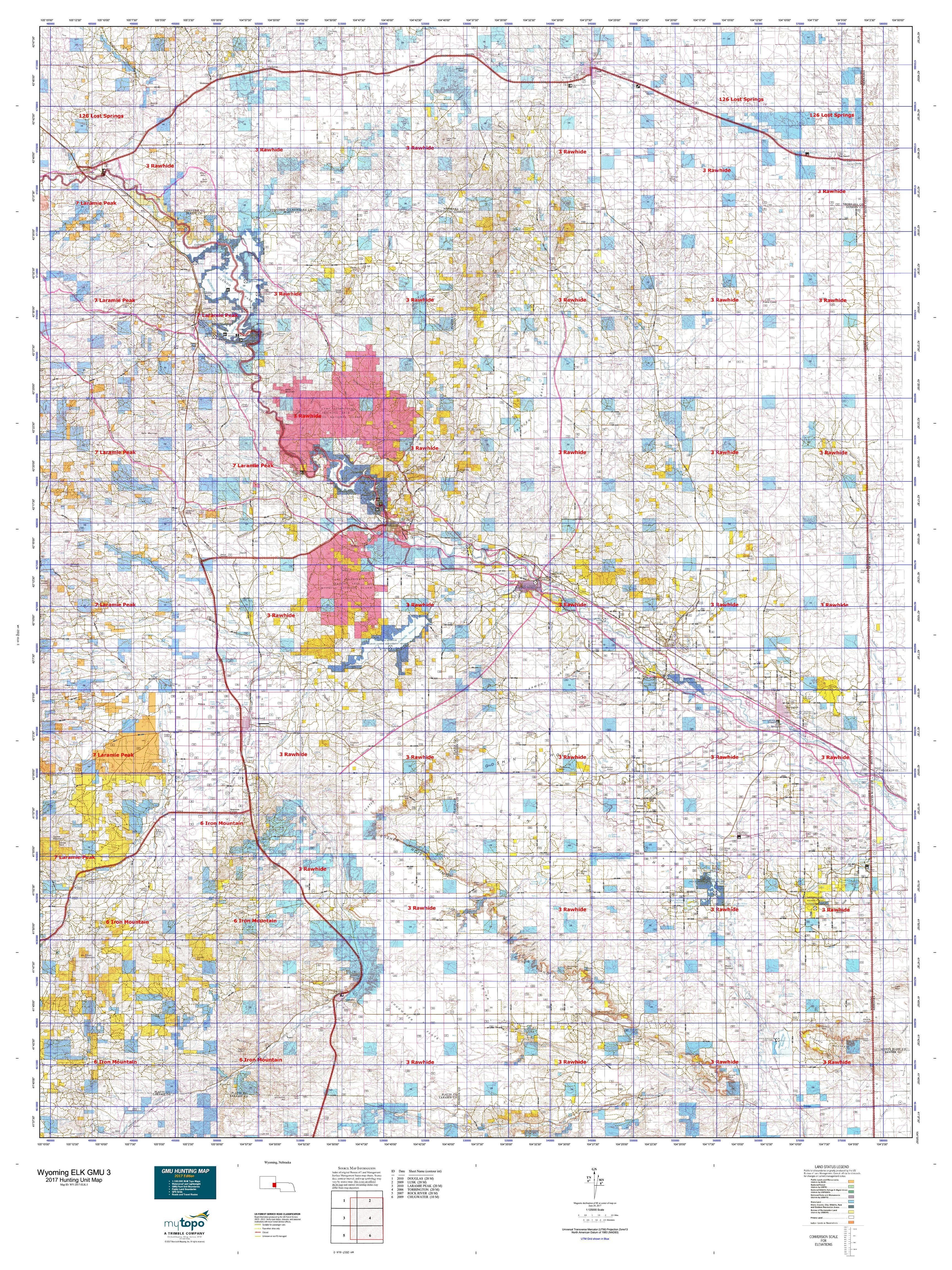 Elk Population Map My Blog UGA SCWDS Historic Wildlife Range Maps - Wyoming us map
