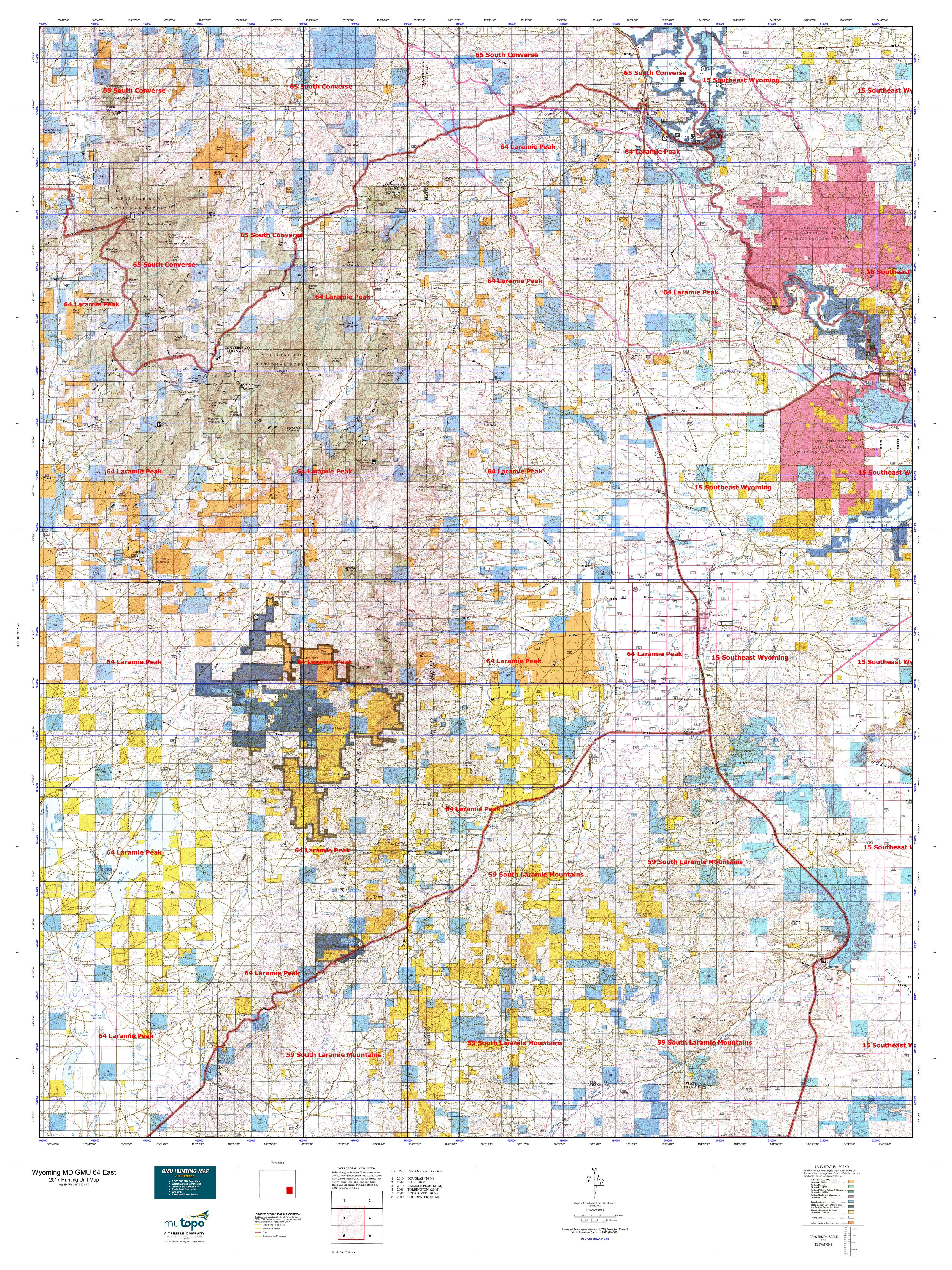 Wyoming MD GMU 64 East Map MyTopo