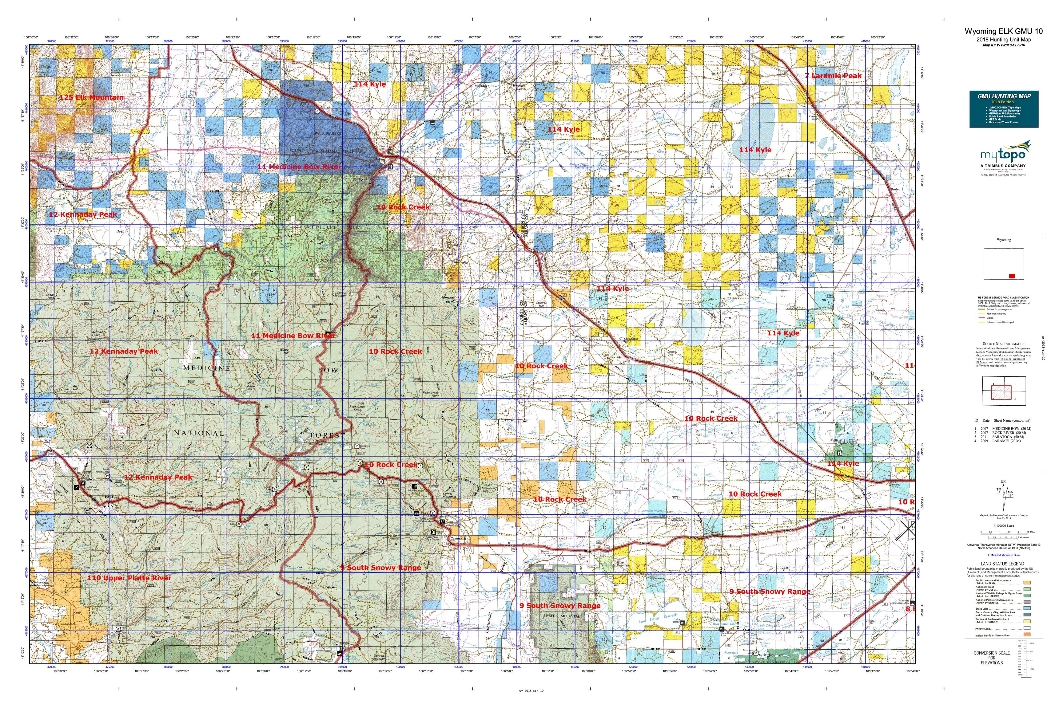 Wyoming ELK GMU 10 Map | MyTopo