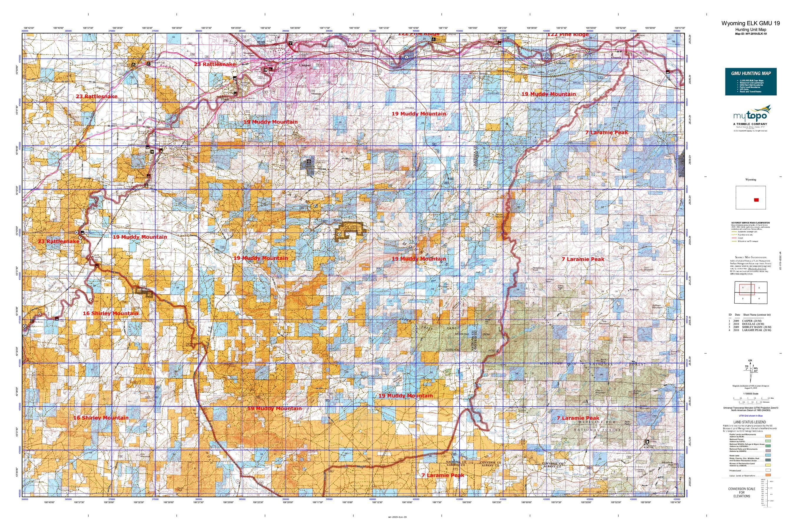 Wyoming ELK GMU 19 Map | MyTopo