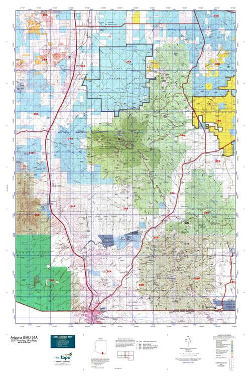 Arizona gmu 34a map mytopo for Arizona game and fish locations