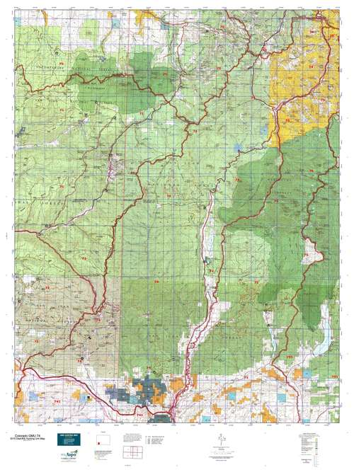 Colorado GMU 74 Map  MyTopo