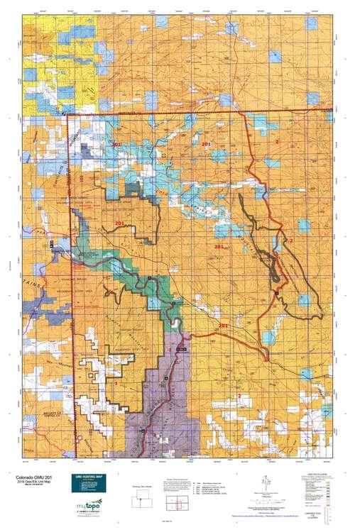 Colorado GMU 201 Map  MyTopo