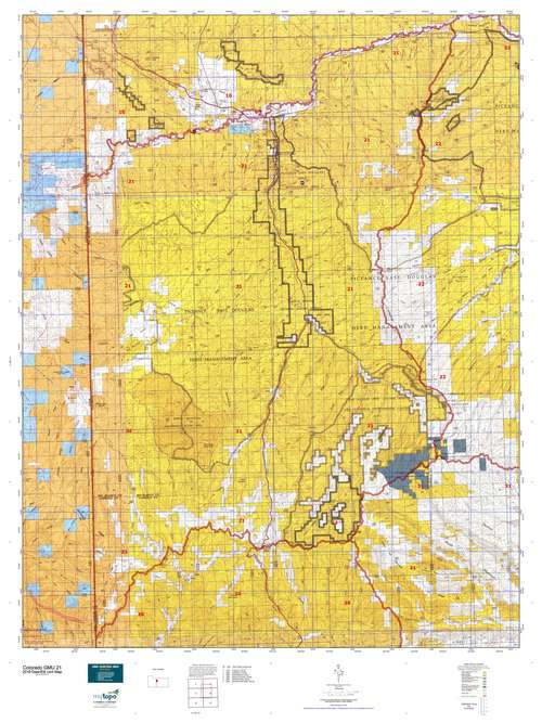 Colorado GMU 21 Map  MyTopo