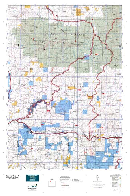 Colorado GMU 441 Map  MyTopo