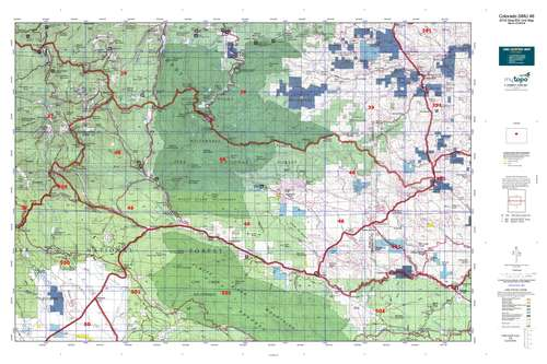 Colorado GMU 46 Map  MyTopo