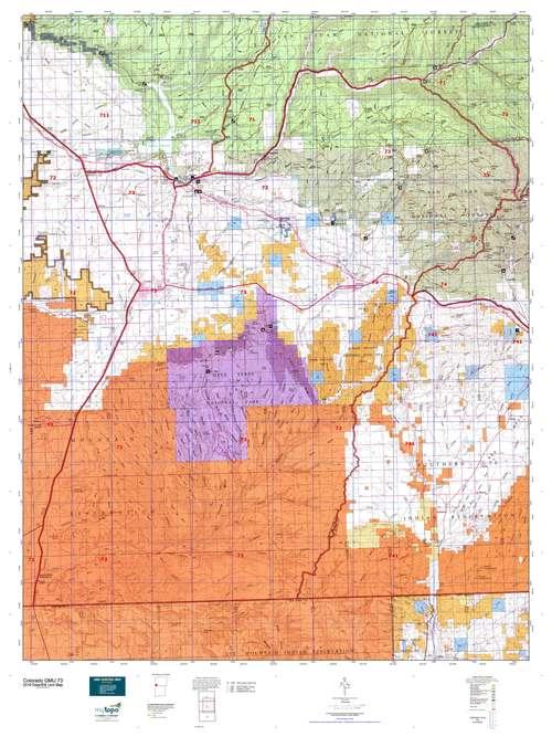Colorado GMU 73 Map  MyTopo