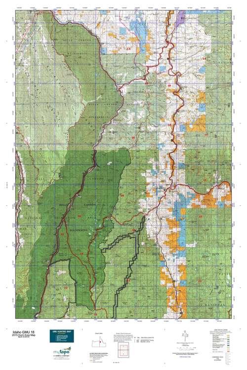 Idaho GMU 18 Map  MyTopo