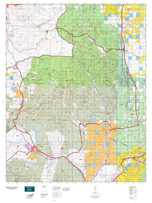 New Mexico GMU 51A Map  MyTopo