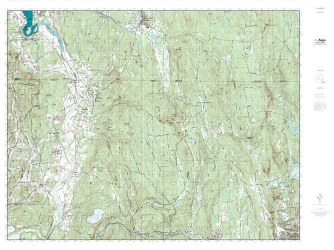 MyTopo Northfield, Vermont USGS Quad Topo Map