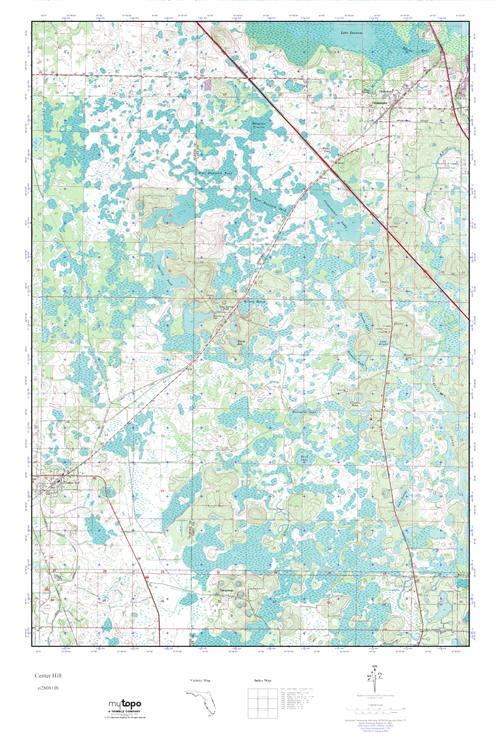 Center Hill Florida Map.Mytopo Center Hill Florida Usgs Quad Topo Map