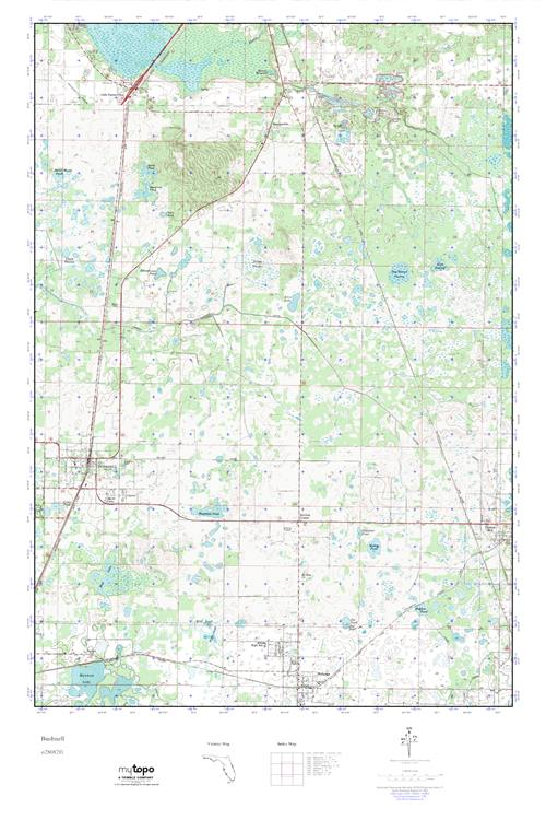 Bushnell Florida Map.Mytopo Bushnell Florida Usgs Quad Topo Map