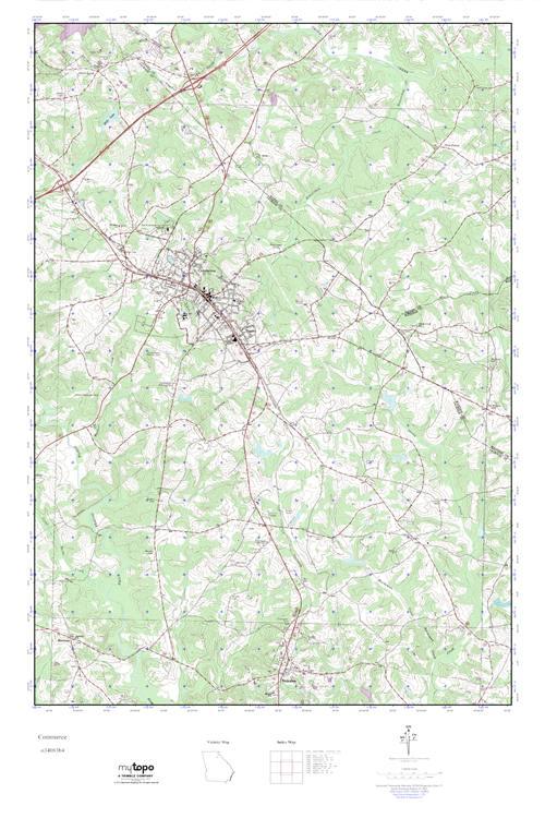 Commerce Georgia Map.Mytopo Commerce Georgia Usgs Quad Topo Map