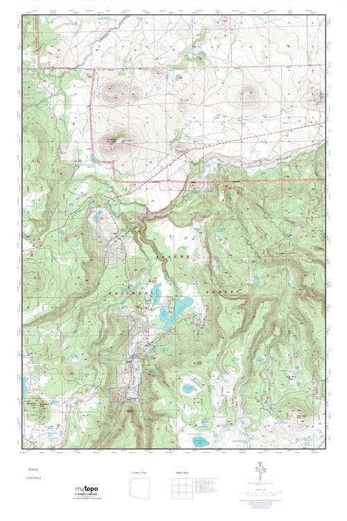 MyTopo Greer Arizona USGS Quad Topo Map