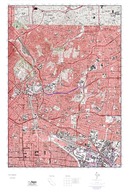 MyTopo Los Angeles California USGS Quad Topo Map
