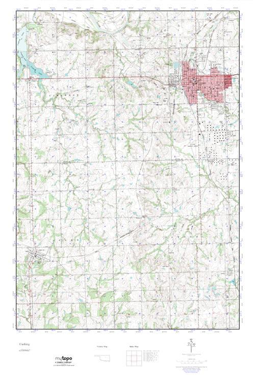 MyTopo Cushing Oklahoma USGS Quad Topo Map