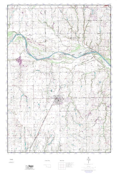 Mytopo Tuttle Oklahoma Usgs Quad Topo Map