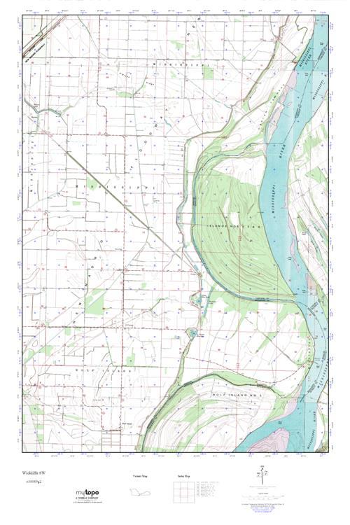 Mytopo Wickliffe Sw Missouri Usgs Quad Topo Map
