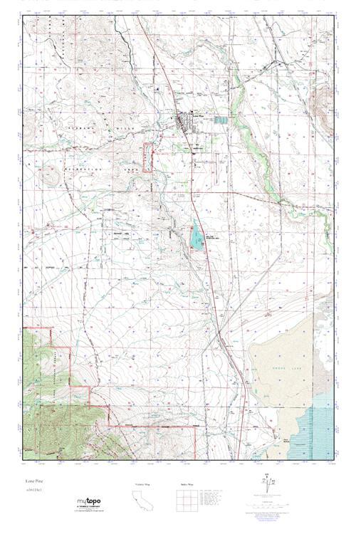 Mytopo Lone Pine California Usgs Quad Topo Map