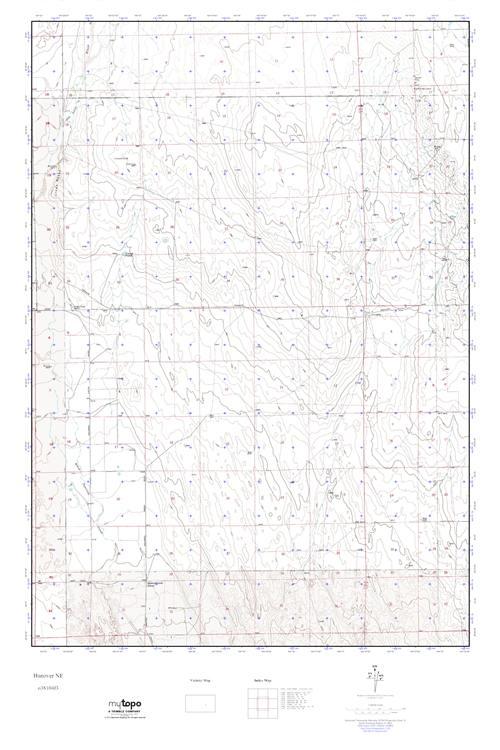 Mytopo Hanover Ne Colorado Usgs Quad Topo Map