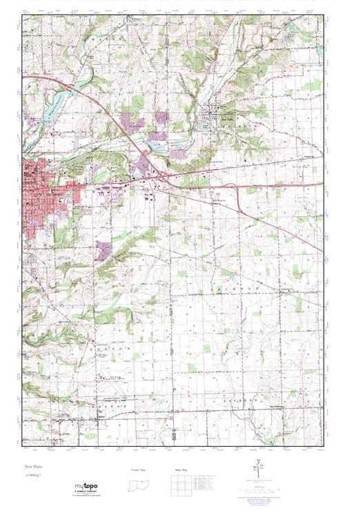 New Paris Ohio Map.Mytopo New Paris Ohio Usgs Quad Topo Map