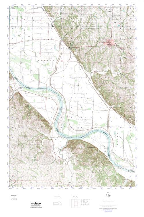 MyTopo Oregon Missouri USGS Quad Topo Map