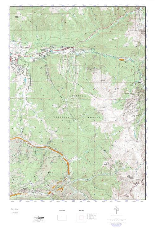 MyTopo Keystone, Colorado USGS Quad Topo Map