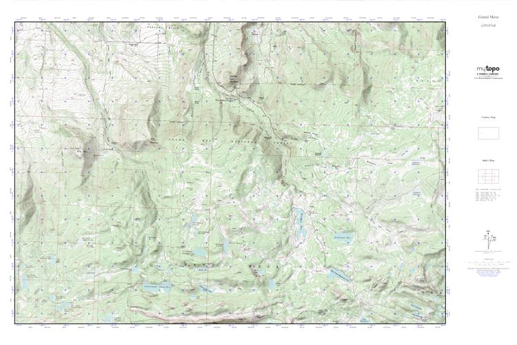 Mytopo Grand Mesa Colorado Usgs Quad Topo Map