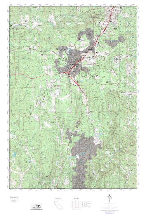MyTopo Grass Valley, California USGS Quad Topo Map