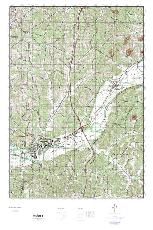 Newcomerstown Ohio Map.Mytopo Newcomerstown Ohio Usgs Quad Topo Map