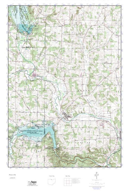 Perrysville Ohio Map.Mytopo Perrysville Ohio Usgs Quad Topo Map