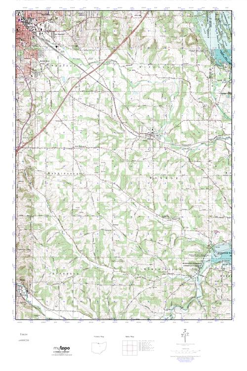 Lucas Ohio Map.Mytopo Lucas Ohio Usgs Quad Topo Map