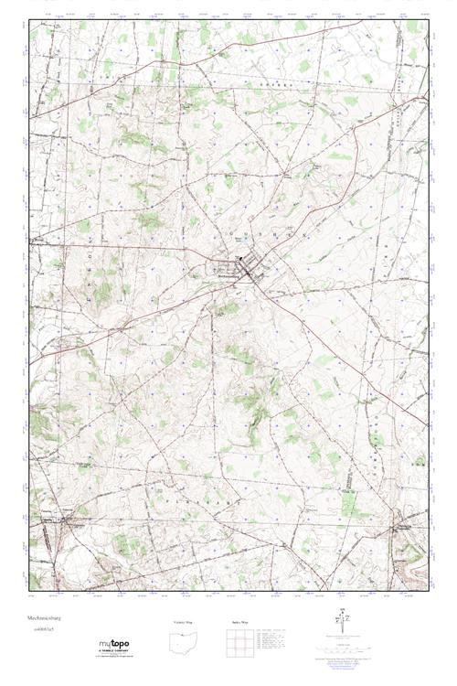 Mechanicsburg Ohio Map.Mytopo Mechanicsburg Ohio Usgs Quad Topo Map
