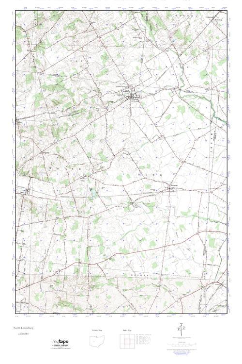 Lewisburg Ohio Map.Mytopo North Lewisburg Ohio Usgs Quad Topo Map