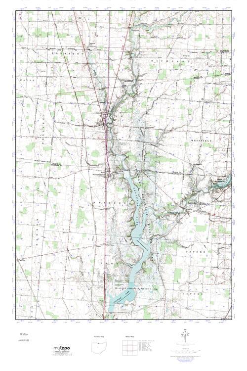 Waldo Ohio Map.Mytopo Waldo Ohio Usgs Quad Topo Map