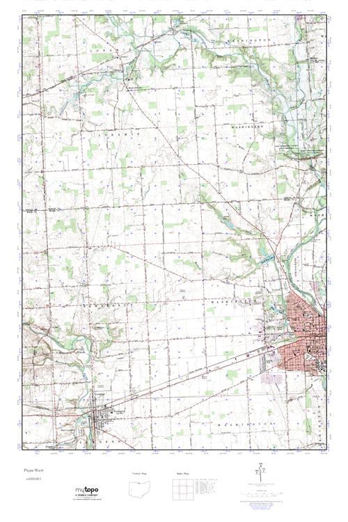 Mytopo Piqua West Ohio Usgs Quad Topo Map